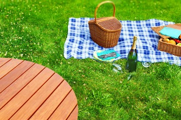 Summer Vacation Picnic Scene