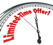Limited Time Offer Clock Special Saving sale Clearance Event Dea