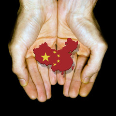China in hands