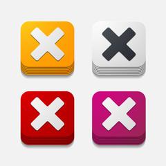 square button: cross