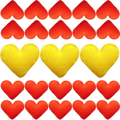lot of hearts background