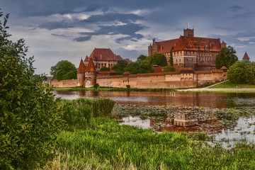 HDR image of medieval castle in Malbork