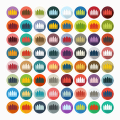 Flat design: crown
