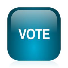 vote blue glossy internet icon
