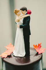 Autumn Wedding Cake Topper