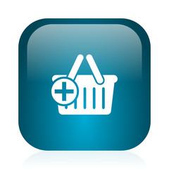 cart blue glossy internet icon