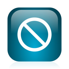 access denied blue glossy internet icon