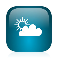 cloud blue glossy internet icon