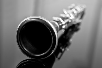 Clarinet in black and white