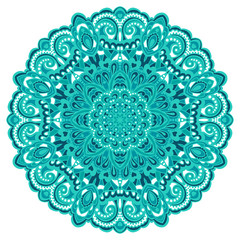 Flower Mandala. Abstract element for design