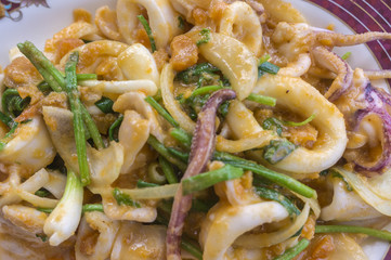 Fried Squid with Salted Eggs
