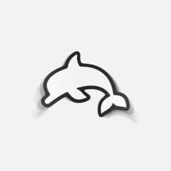 realistic design element: dolphin