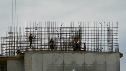 Timelapse: Builders reinforce reinforcement