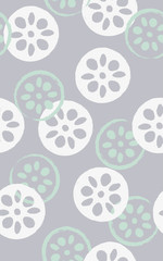 Seamless pattern of lotuses