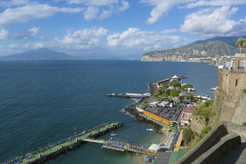 Sorrento, Vesuvius, Naples Bay