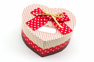 Gift box shaped heart.