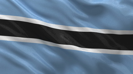 Flag of Botswana waving in the wind - seamless loop