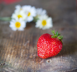 bright juicy strawberries