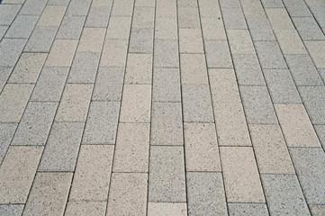 ブロックの歩道