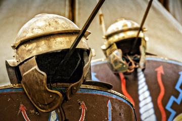 Römischer Helm Pilum Schild