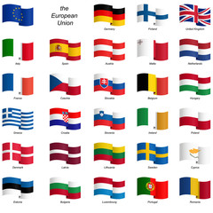 collection of country flags - EU