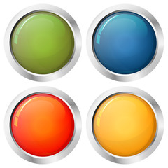 Button template four colors