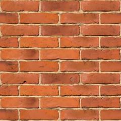 Red brick wall seamless vector texture