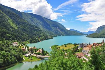 Molveno lake in italian Alps