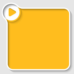 vector yellow text frame and play symbol