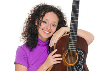 guitar woman player portrait