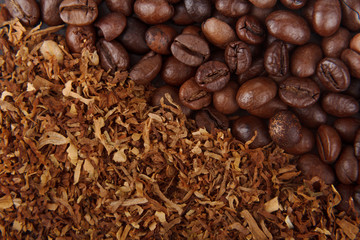coffee beans and tobacco