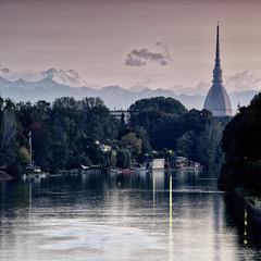 Turin's Mole and Monte Rosa summit