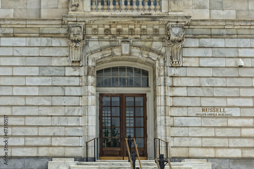 Russel Senate office building at Washington DC Capitol
