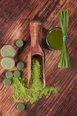 Green food supplements.