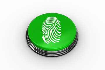 Composite image of fingerprint graphic on button