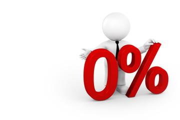 Leistung null Prozent