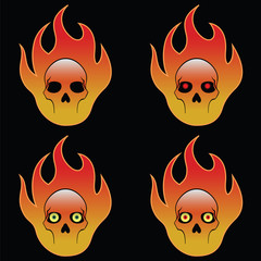Four Skulls On Fire