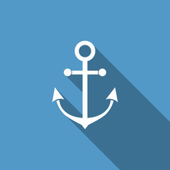 anchor icon with long shadow