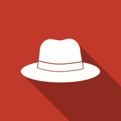 hat icon with long shadow