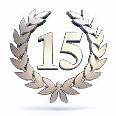15 Years Jubilee in silver