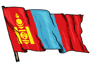 flag of Mongolia