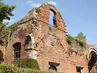 Ruins of the Cisterciënzer Abbey of Auine in Gozee