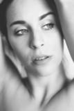 Black and white photo of beautiful woman