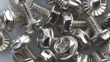 Steel bolts turning in a seamless loop
