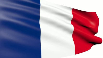 French flag waving