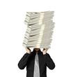 head lifting dollar ,businessman