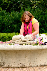 Baby loss - Mum grieving at baby loss memorial