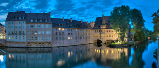 Pegnitz Panorama At Dusk