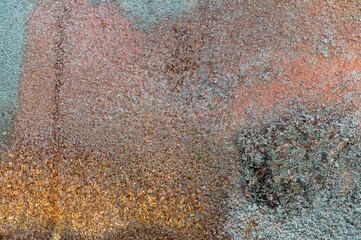 Rust. Charred metal
