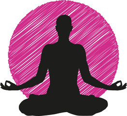 Logo Yoga Icon Meditation